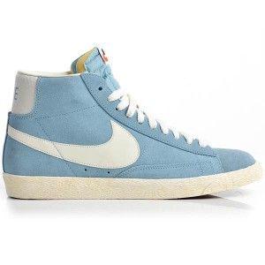 info for d0f58 a3d77 original Baskets Nike Blazer Mid Suede Vintage Femme bleu blanc en solde  France