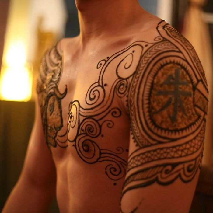 Menna Trend Sees Men Wearing Intricate Henna Tattoos Henna