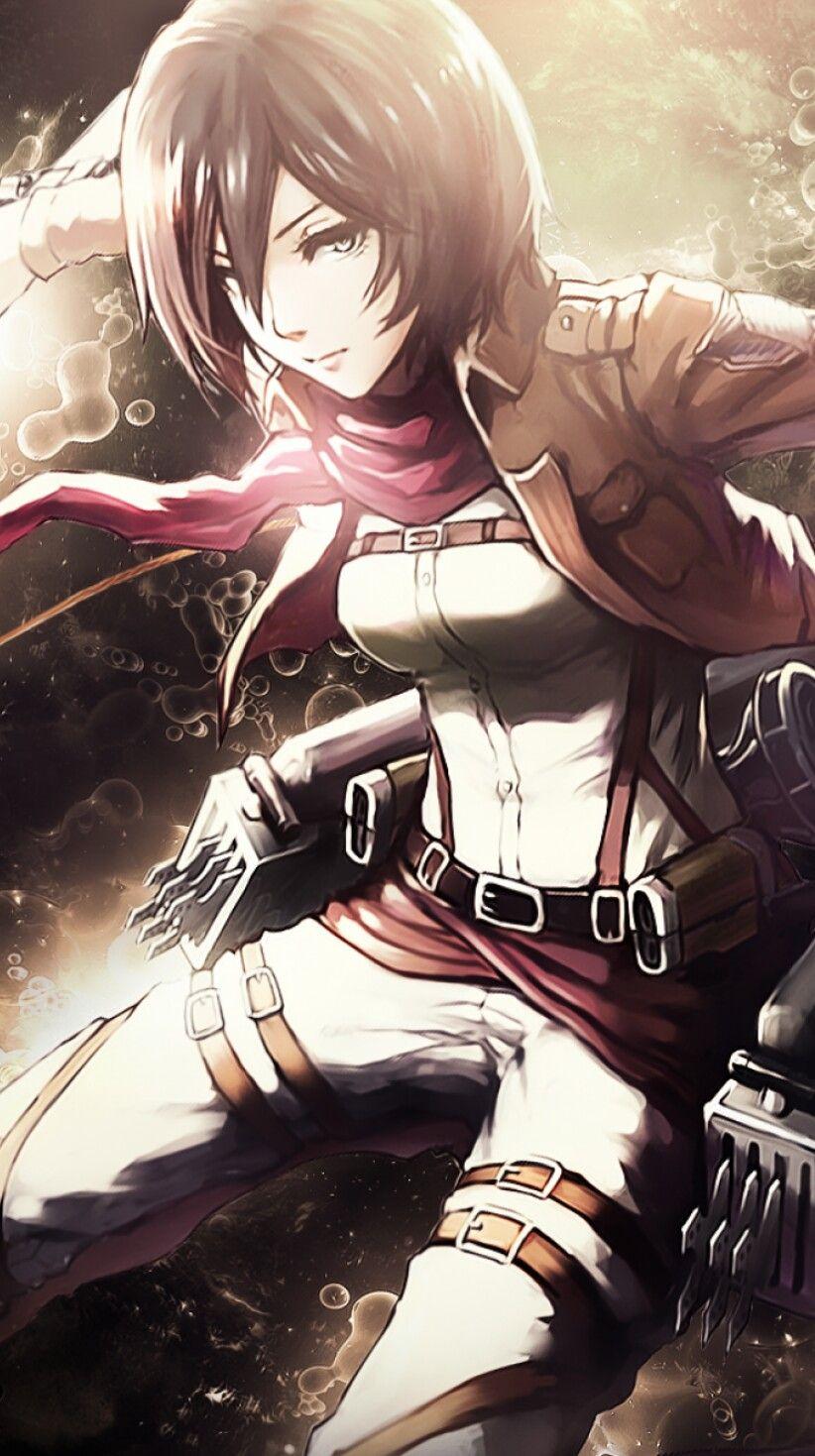mikasa Shingeky, Kyojin, Wallpaper de anime