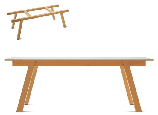 Jasper Morrison Big Wood Table A Big Work Table Beech Wood