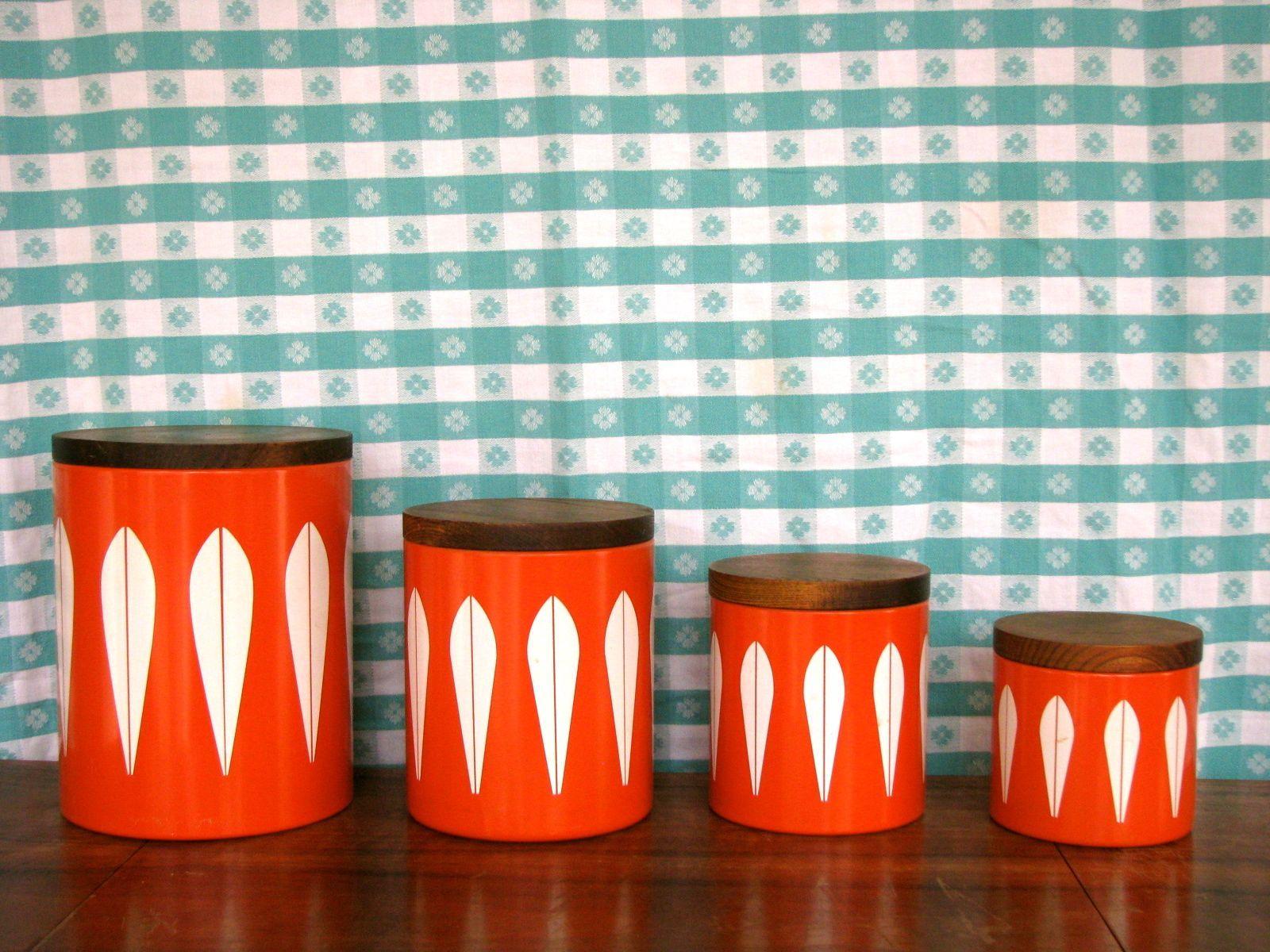 Catherine Holm canisters | Vintage Treasure | Pinterest | Mid ...
