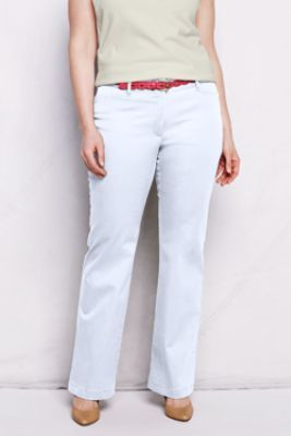4a9dbd1e6b1 Women s Plus Size Stretch Boot-cut Chino Pants from Lands  End ...