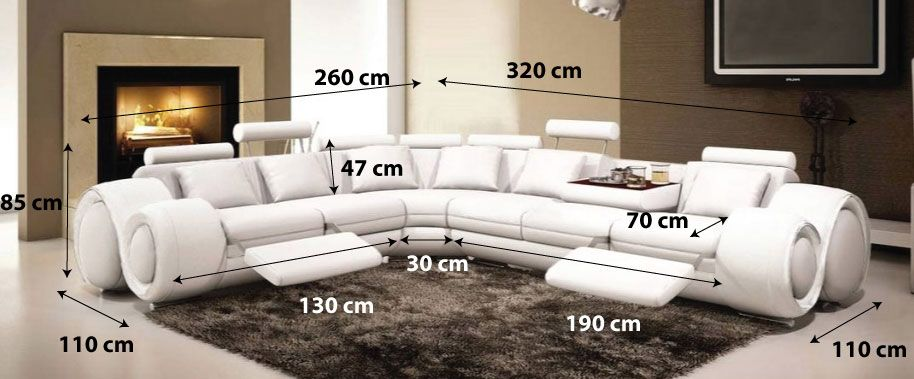 Canape Angle Fresno Dimensions Blanc Sectional Couch Design Couch