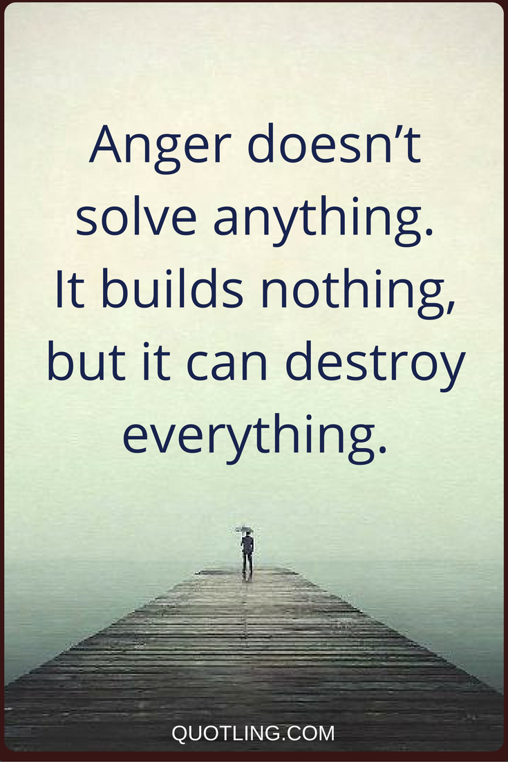 Lead Ins For Quotes Anger Quotes Anger Doesn't Solve Anythingit Builds Nothing But