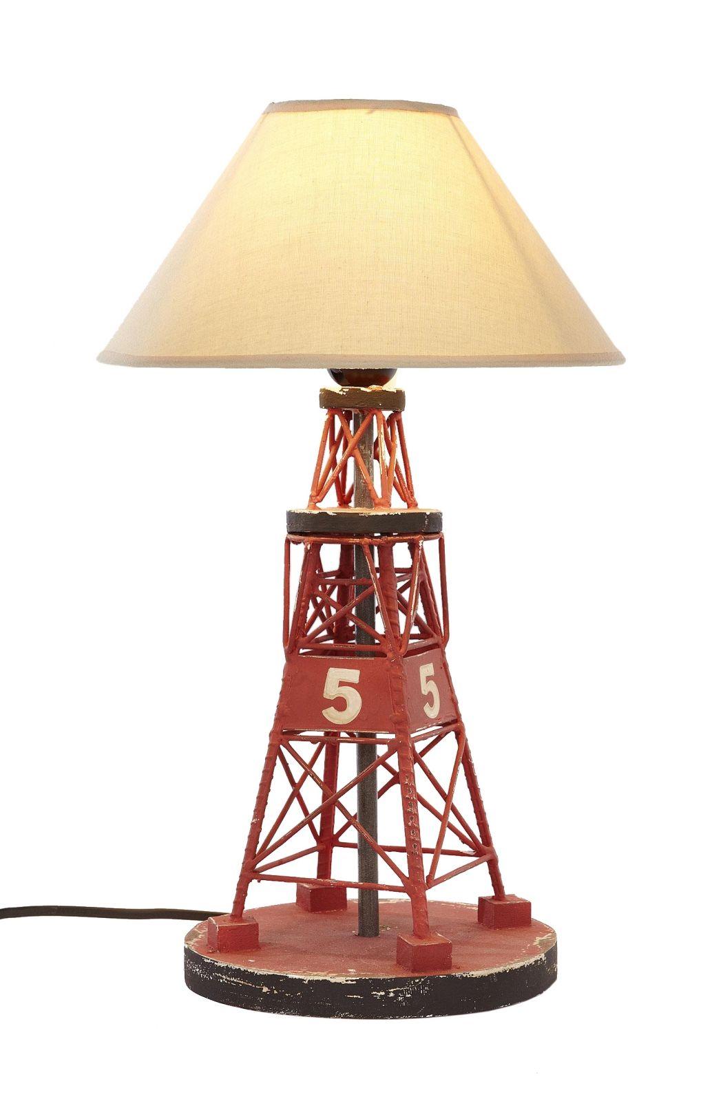 € 59,95 Lampe Holzboje 5 : Schirmlampe mit einer roten Boje als Sockel.