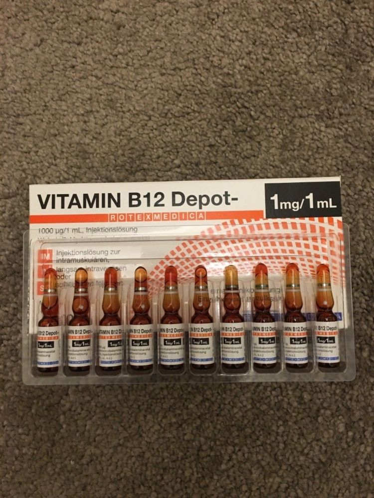 Vitamin B12 Injections 10 X 1 ml Amps / Hydroxocobalamin / IMMEDIATE