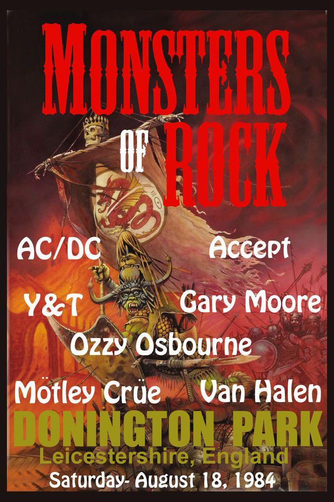 Monsters of Rock: AC/DC, Motley Crue, Van Halen, Ozzy - 1984