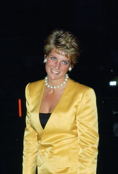 Princess Diana Attending Shirley Bassey's Concert At The Palladium For The Charitable Works Of The Prince Of Wales