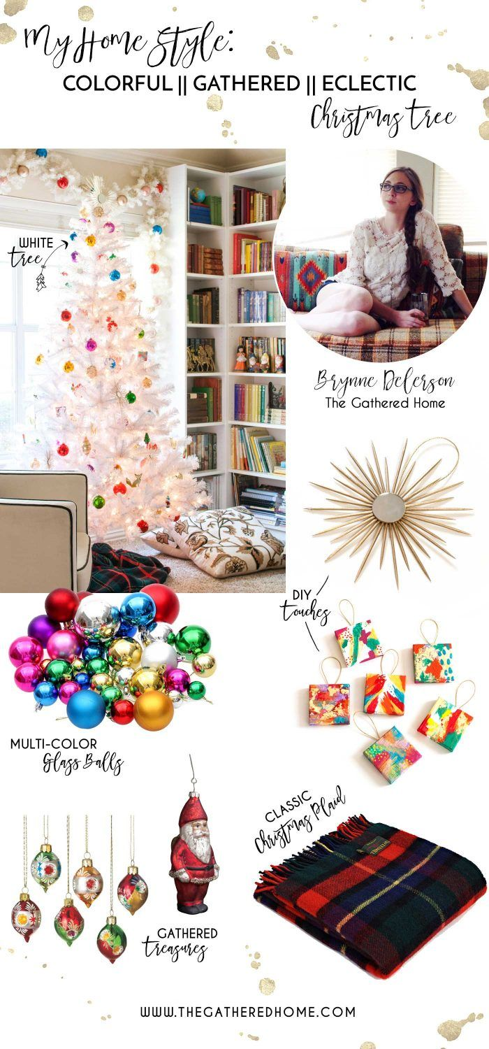 Get The Gathered Home's Christmas tree style with these colorful, eclectic tree trimmings!
