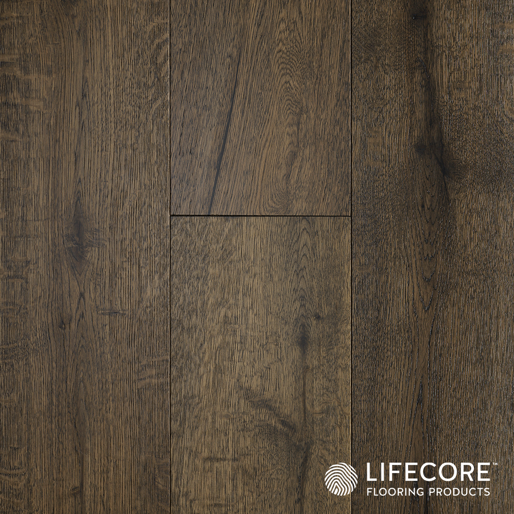 With Its Vivid Smoked Palette Adela S Craftsman Inspired Engineered Oak Collection Makes A Breathtaking Statement Design Perfection Flooring Engineered Oak