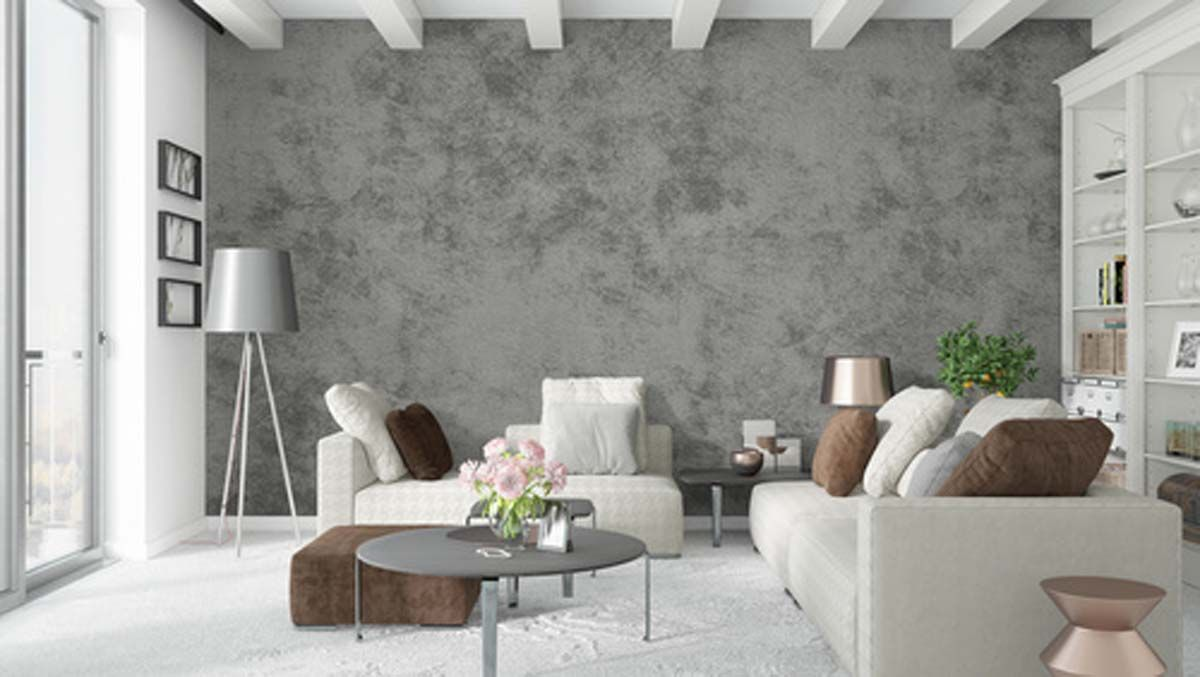 Beton Optik im Trend   cooler Look für Wände   d ...