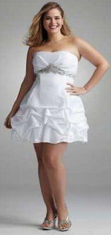 11c79c23de Moda Estilo Y Distinción Para Gorditas  Vestidos de Novia Tallas Grandes - Corto-Para Gorditas