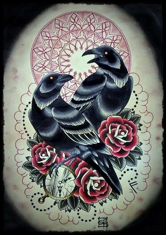 crow tattoo 4