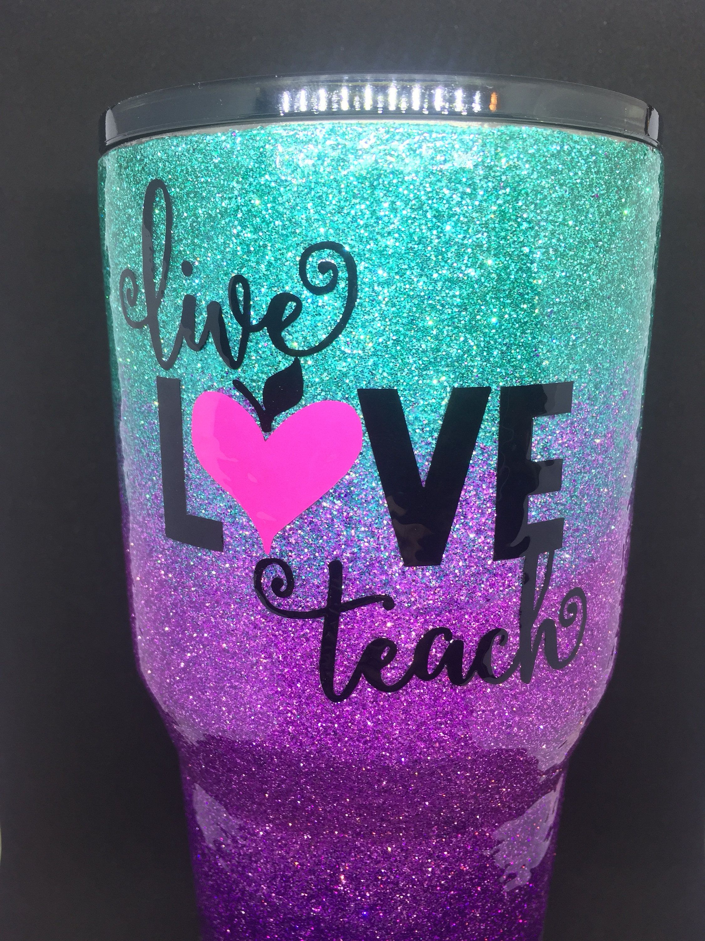 8c4f943a07e Excited to share the latest addition to my #etsy shop: 30oz Teacher Ombre  Glitter