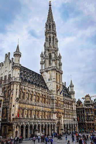 Hôtel de Ville at Grand Place - Brussels Belgium