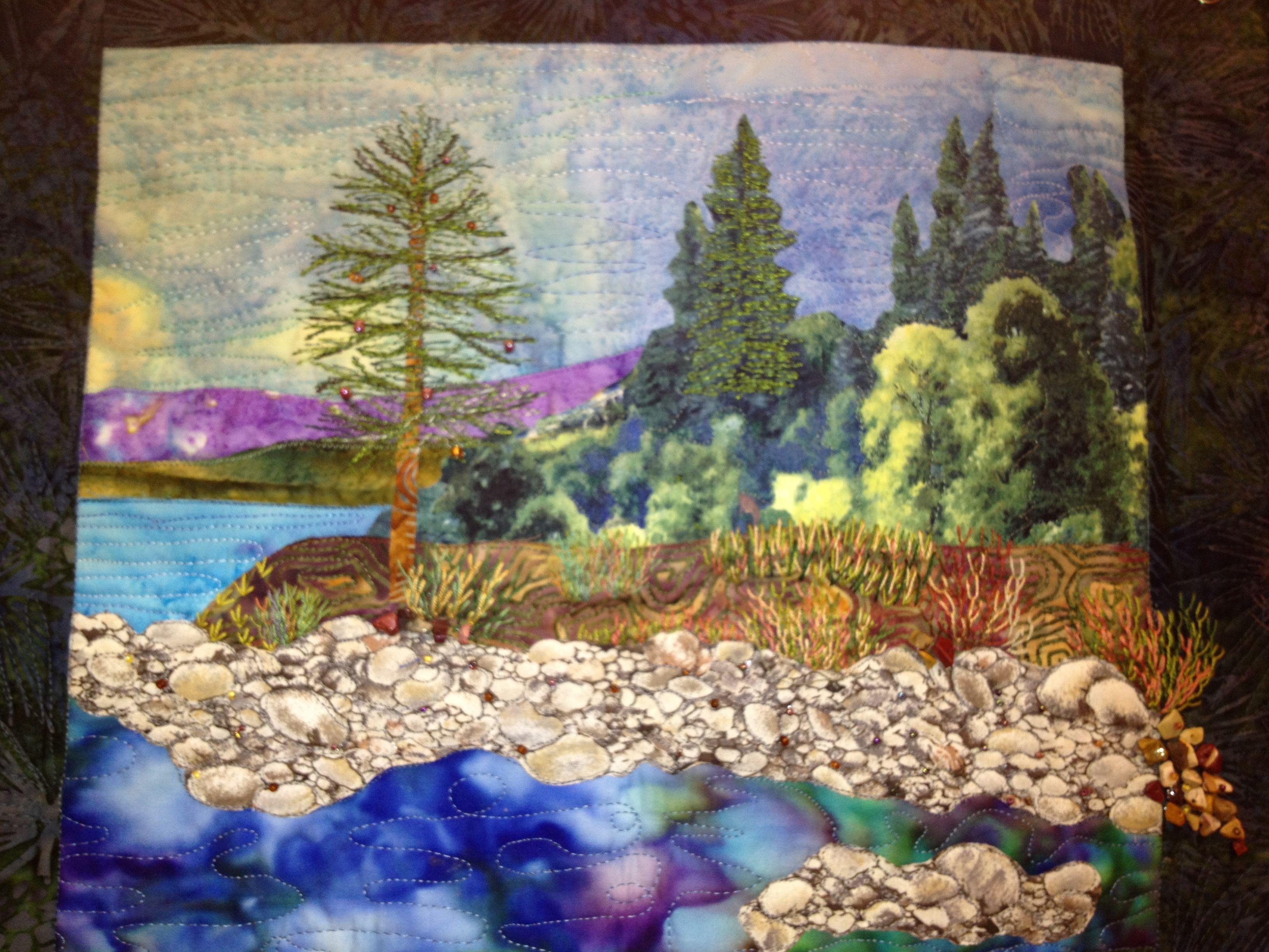 Landscape Quilt Patterns Interesting Decorating Design