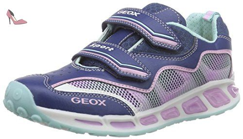 Geox Shuttle A, Sneakers Basses Fille, Gris (Grey), 26 EU