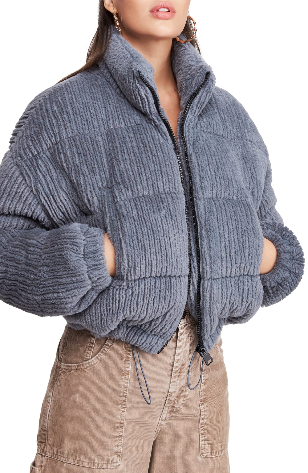 BDG Urban Outfitters Fluffy Corduroy Crop Puffer Jacket ...