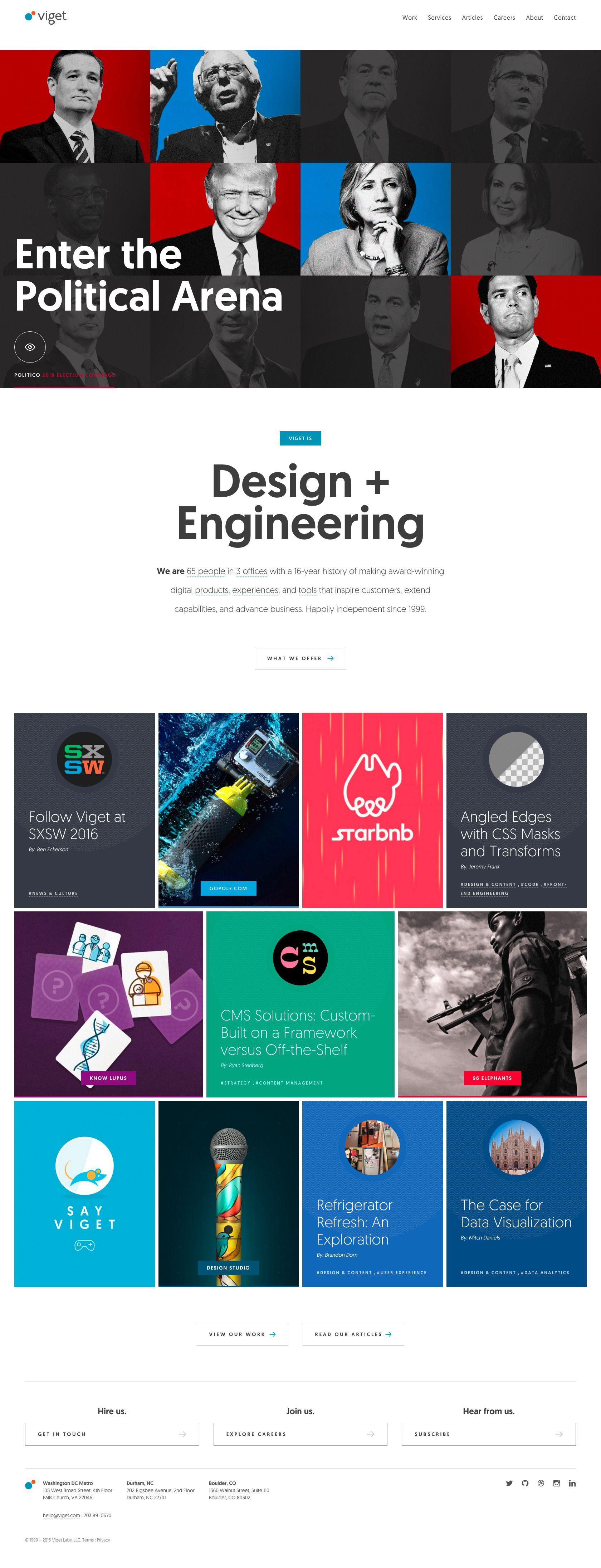 Viget 01 Jpg 1680 4382 Cool Websites Data Visualization Web Design