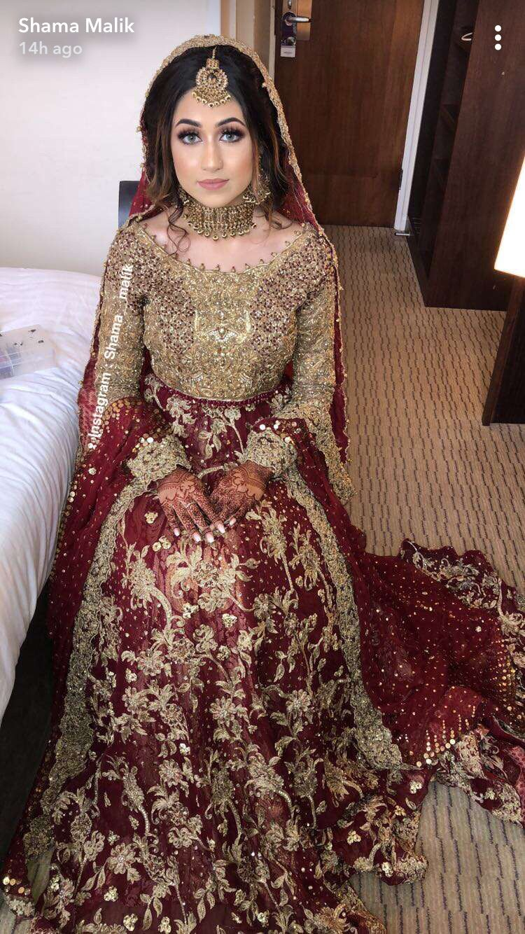 Pin By Asma Sharif On My Favorite Asian Bridal Dresses Red Bridal Dress