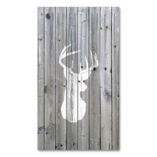 Hipster vintage white deer head on gray wood business card template. This great business card design is available for customization. All text style, colors, sizes can be modified to fit your needs. Just click the image to learn more!