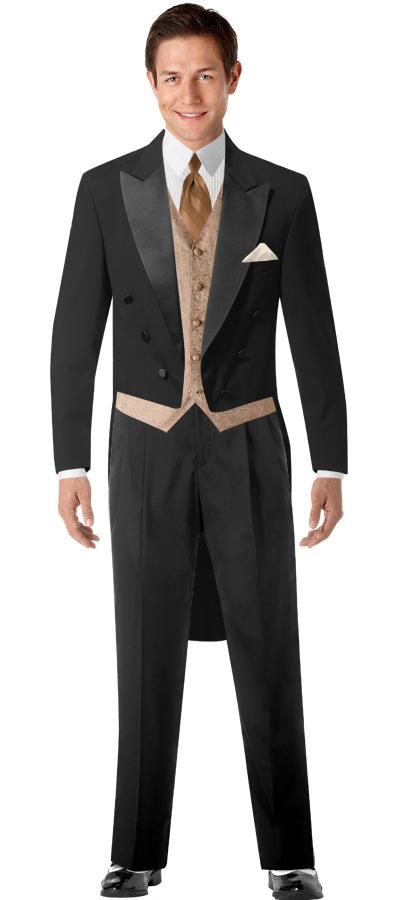 BLACK By Vera Wang Black Notch Lapel Tux Tuxedo for men
