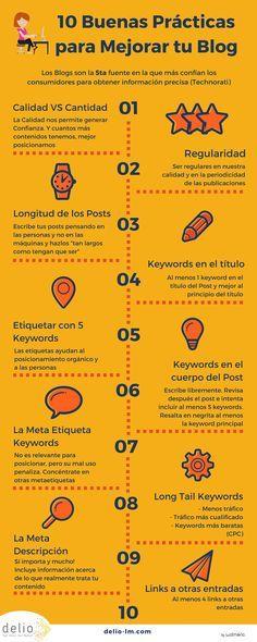 10 buenas prácticas para mejorar tu Blog #Infografía