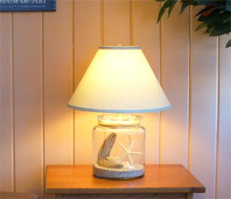 Make Your Own Lamp With Our Fillable Glass Carmel Cottage