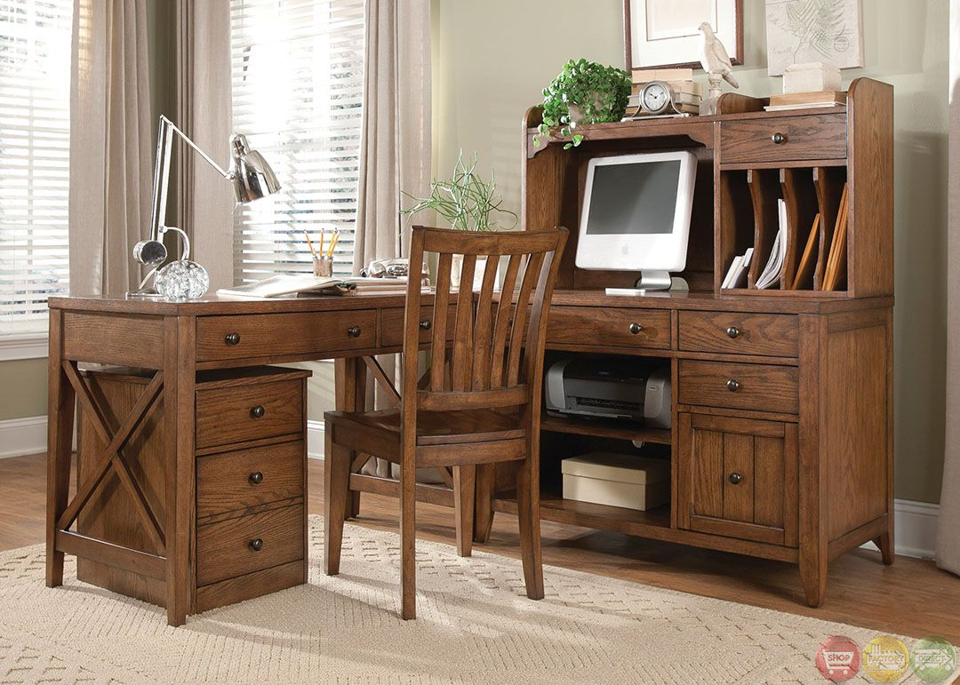 furniture desks home office credenza table. Hearthstone Rustic Oak Finish L Shaped Home Office Desk Furniture Desks Credenza Table