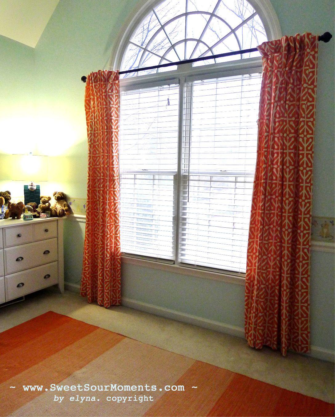 L O V E Blue And Orange Color Scheme Curtain How To
