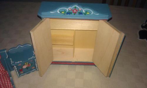 puppenstubenm bel wie neu puppenhaus puppenstube dora. Black Bedroom Furniture Sets. Home Design Ideas