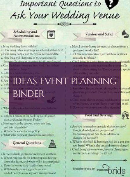 Ideas Event Planning Binder Ideen Eventplanung Sammelmappe