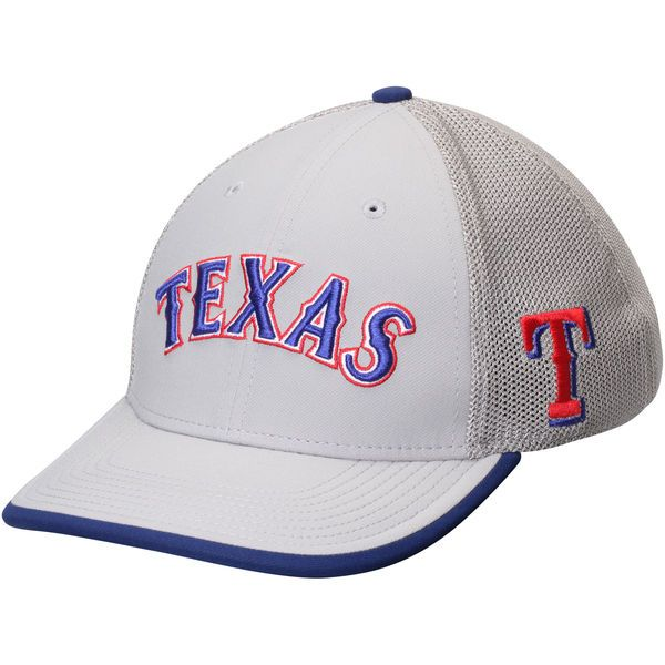83c461de16e Men s Texas Rangers Nike Gray Fabric Mix Swoosh Performance Flex Hat ...