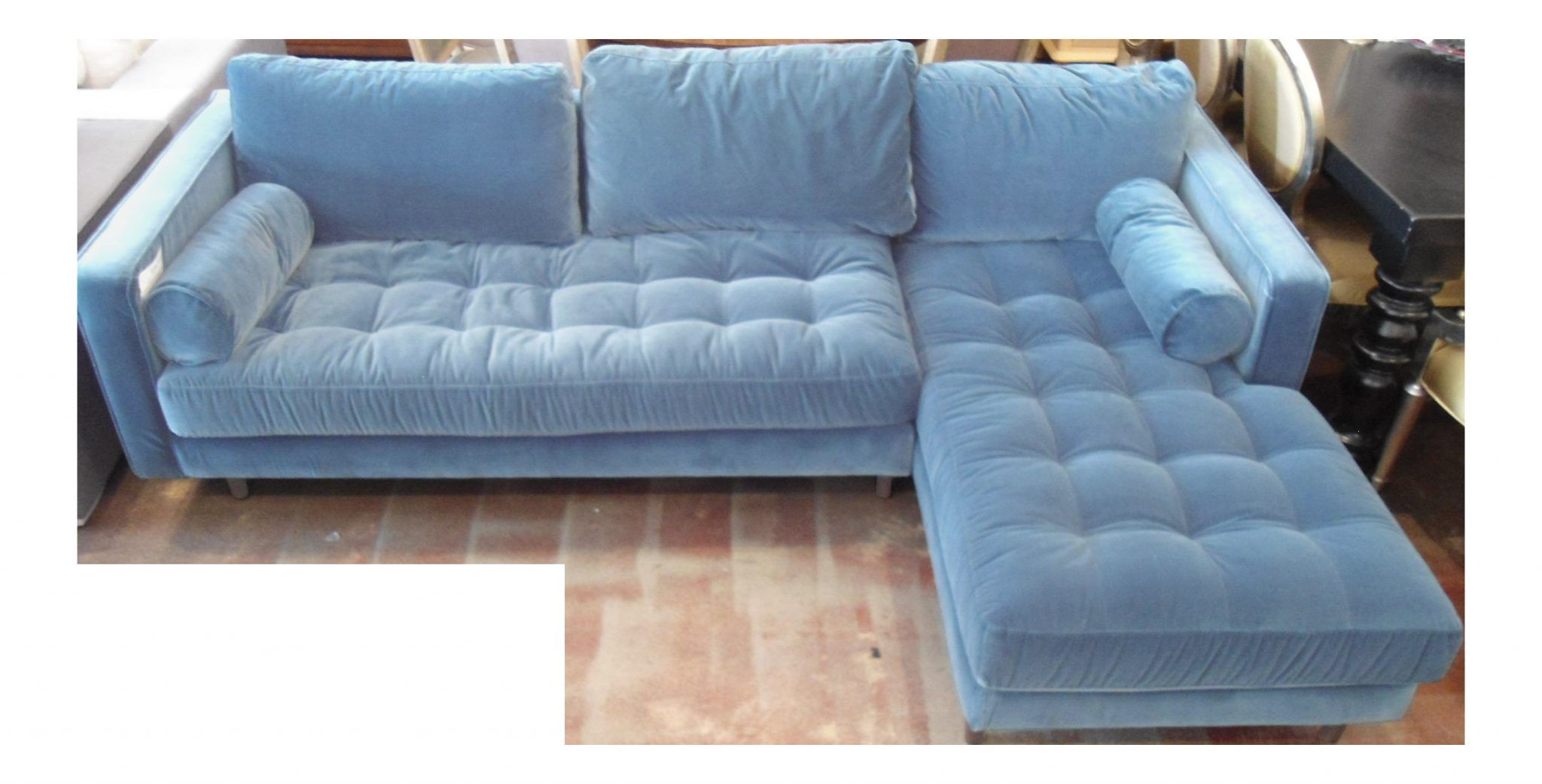 Superbe Blue Velvet Sectional Sofa   Blue Velvet Sectional Sofa, Blue Velvet  Sectional Sofa For Sale