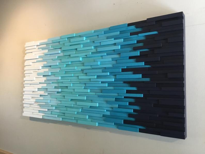 Transition Through Blue Modern Wall Art Beach Art Wall