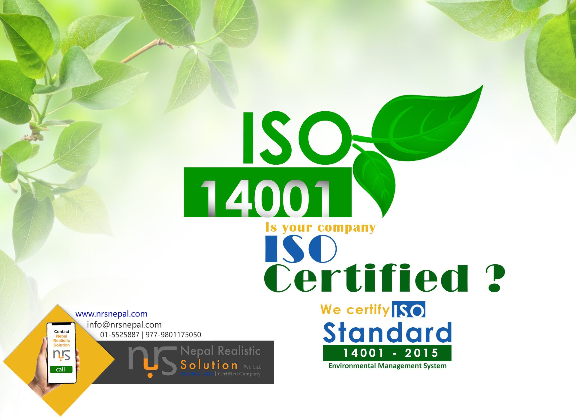 Iso 14001 2015 Environment Management System Environmental Management System Technology Consulting Solutions
