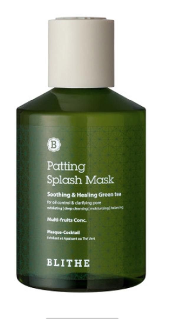 Patting Splash Mask Soothing Healing Green Tea By Blithe Oil Control Products Green Tea Beauty