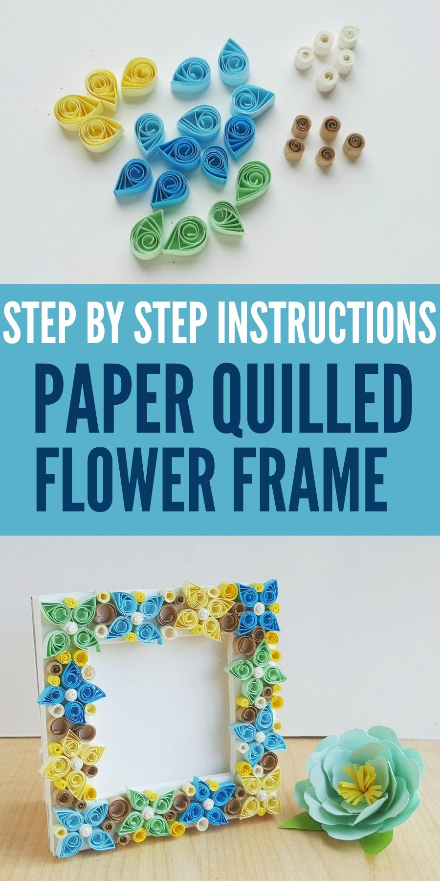 Paper Quilling Flower Frame Diy Step By Step Instructions Paper
