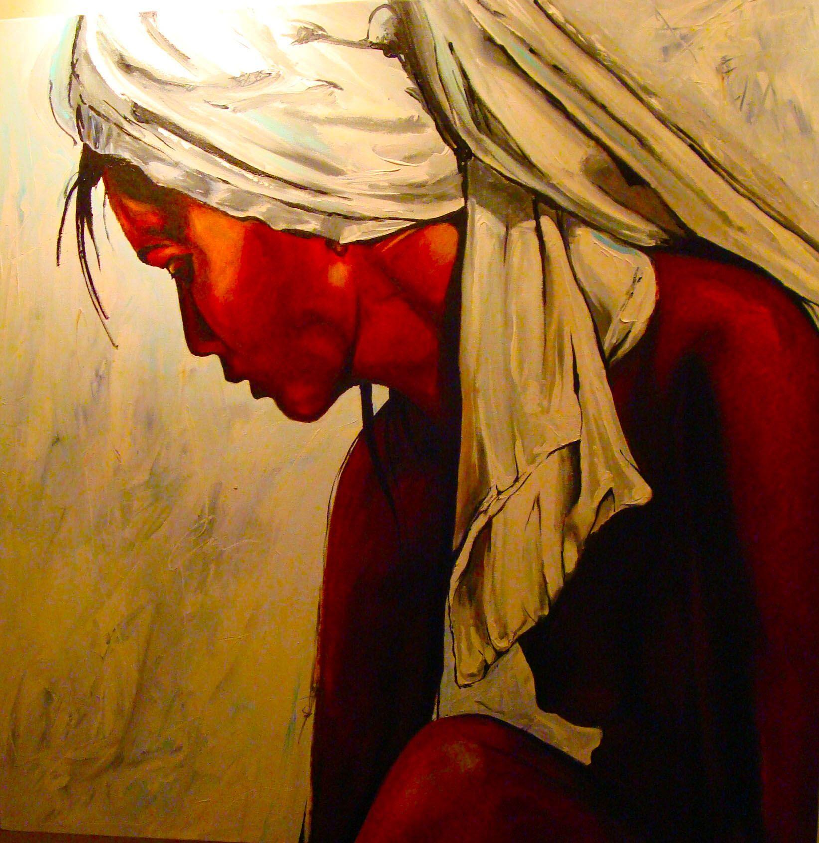 Enamorada 100 x 100 cm Patrick van Haren