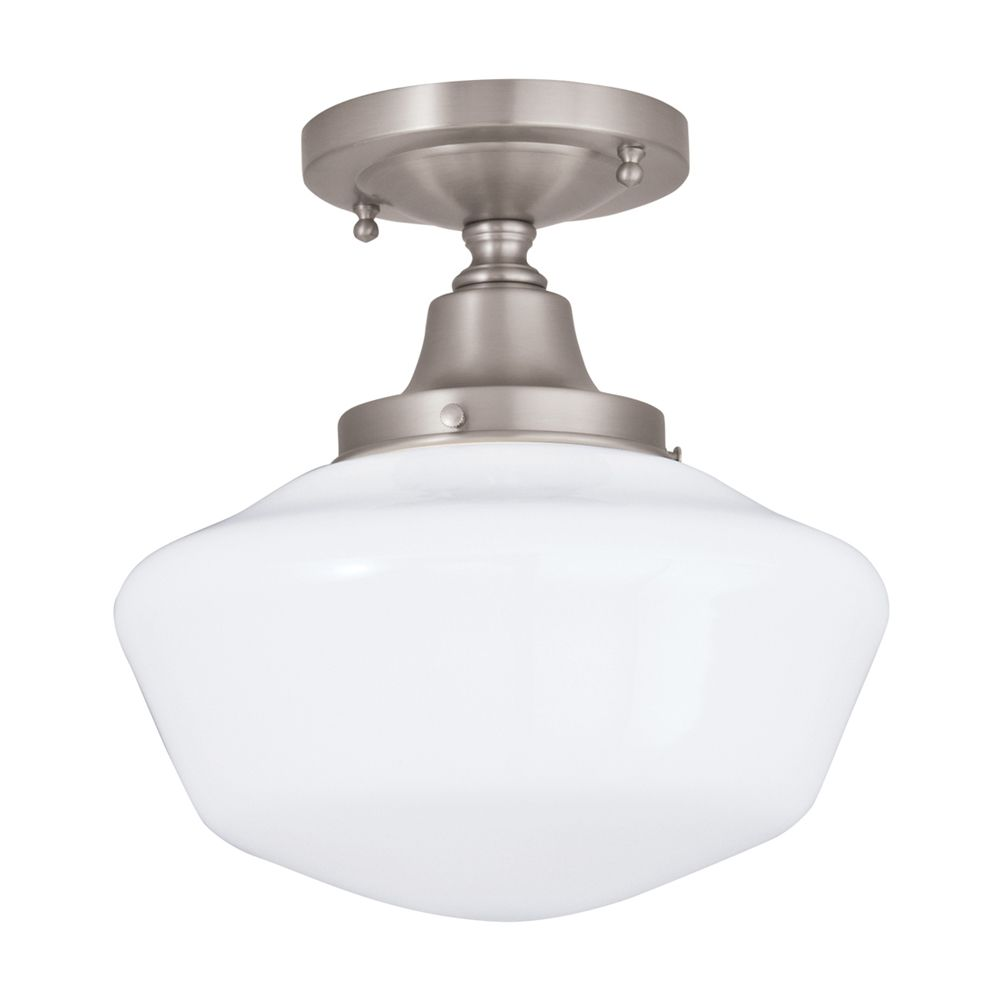 Shop norwell f schoolhouse flush mount ceiling light at atg
