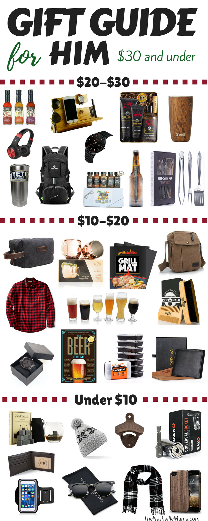Holiday Gift Guide For Him All Under 30 Christmas