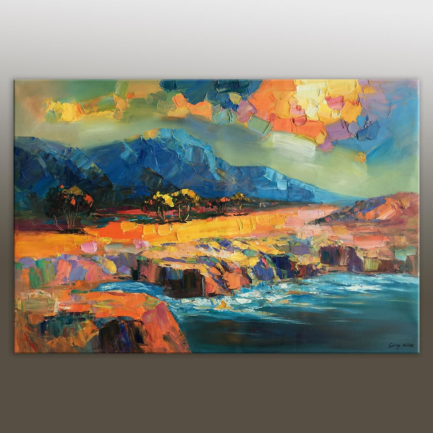 Abstract Painting, Modern Art, Large Wall Art Canvas, Large Landscape Painting, Original Art, Abstract Canvas Painting, Abstract Landscape by GeorgeMillerArt on Etsy https://www.etsy.com/listing/246539304/abstract-painting-modern-art-large-wall