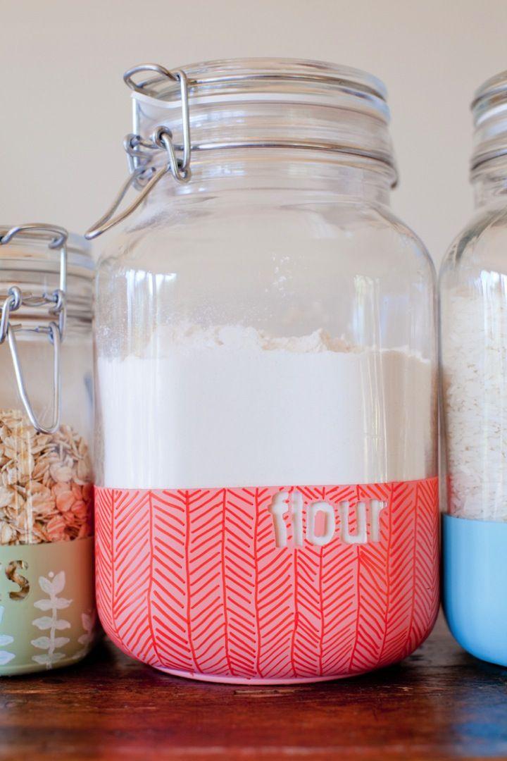 Diy Dipped Kitchen Jars This Little Street Diy Kitchen Projects Jar Crafts Kitchen Jars