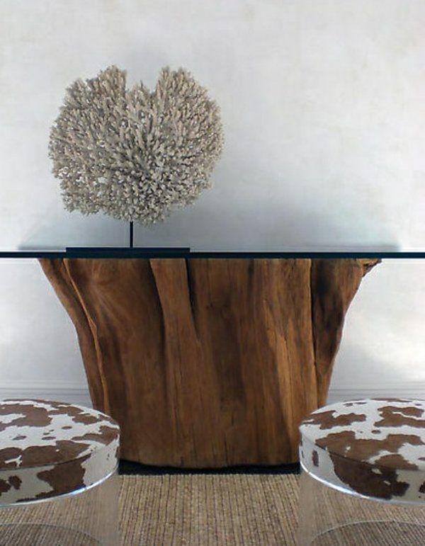 50 Couchtische aus Baumstamm gestaltet | Couchtische