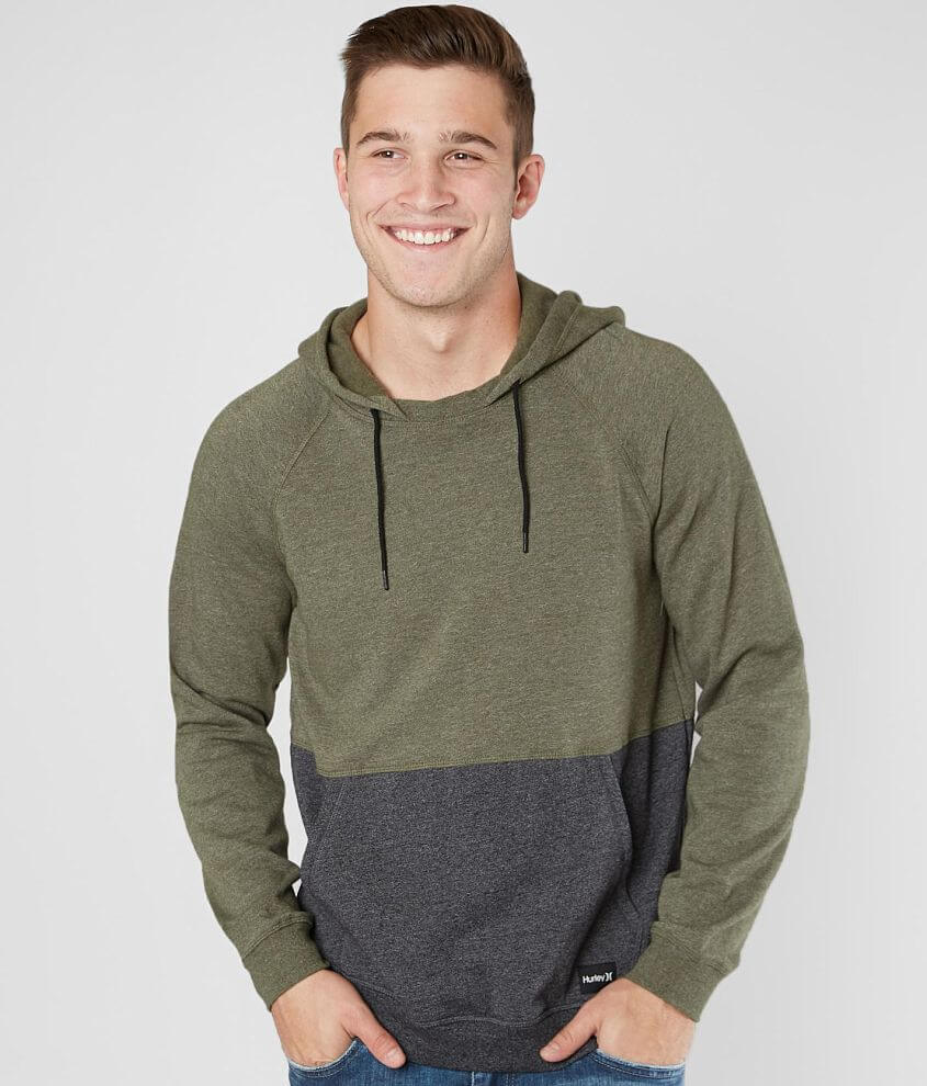 Hurley Crone Hooded Sweatshirt Men S Hooded Sweatshirt Men Hooded Sweatshirts Color Block Sweatshirt [ 990 x 845 Pixel ]
