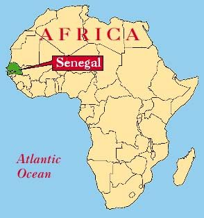 west africa map senegal