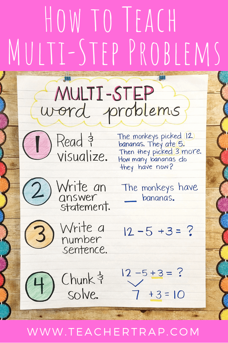 hight resolution of Mastering Multi-Step Word Problems – Teacher Trap   Multi step word problems