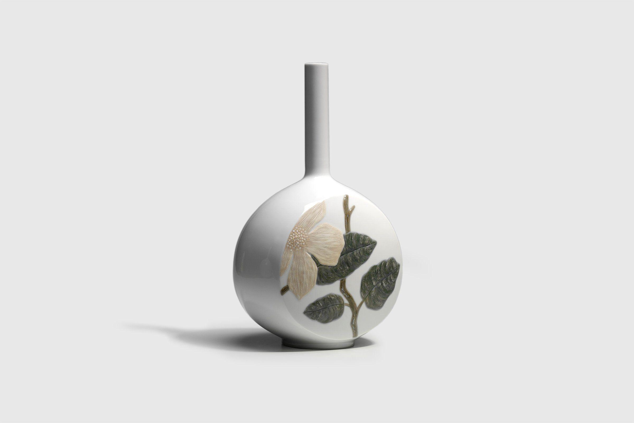 Lladró Canvas Vase - Flower Twig