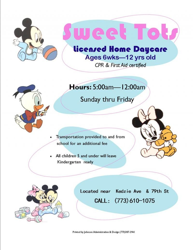 home daycare flyers ideas johnson administration design samples