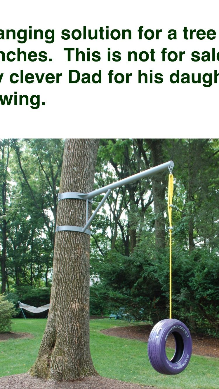 Tire Swing Bracket Tree Swings Diy Tree Swing Diy Tire Swing